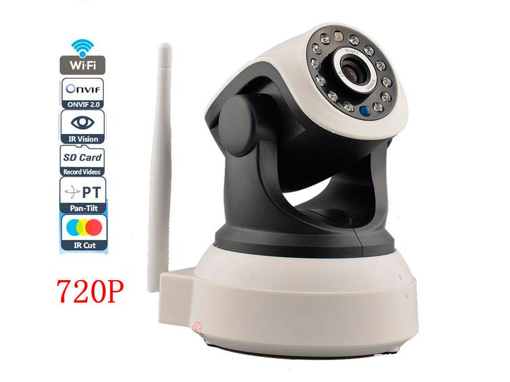 DiAl swivel поворотная IP P2P видеокамера 1.0MP, f=3.6mm, ИК, microSD, WiFi, audio, Pan-Tilt