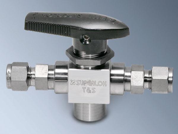 SUPERLOK SBT3-F4N-PC-SS низкотемпературный 3-ходовый шаровой кран высокого давления